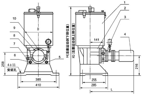 ZPU系列电动润滑泵(图1)